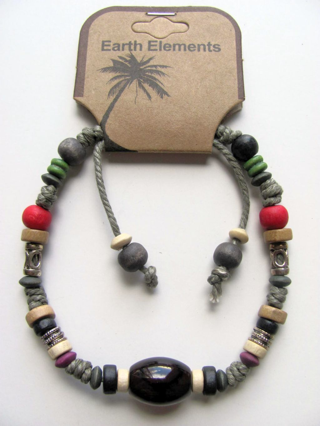 Panama Earth Elements Spiritual Beaded Bracelet, Beach Surfer Men's Jewelry