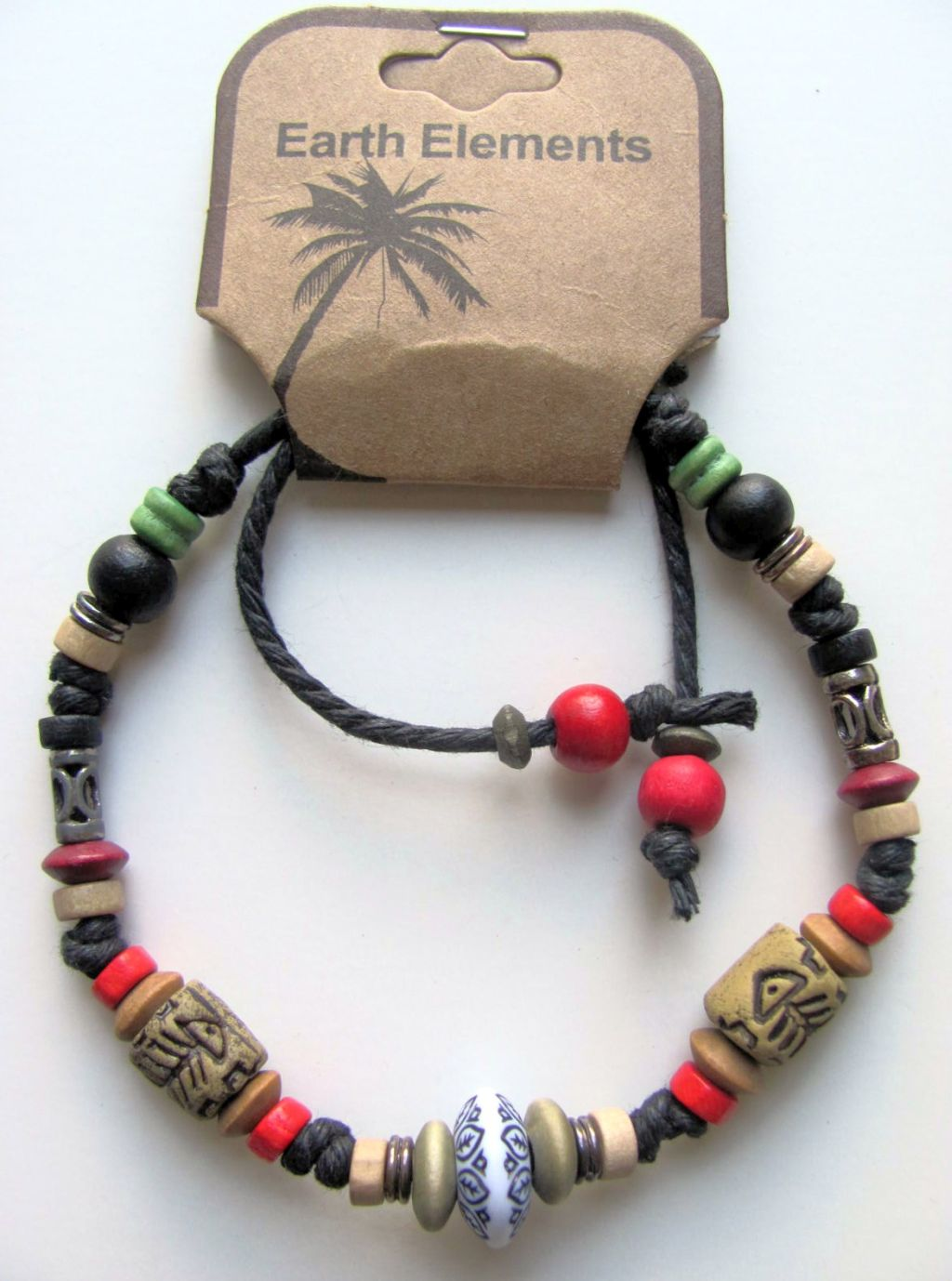 Bermuda Earth Elements Spiritual Beaded Bracelet, Beach Surfer Men's Jewelry