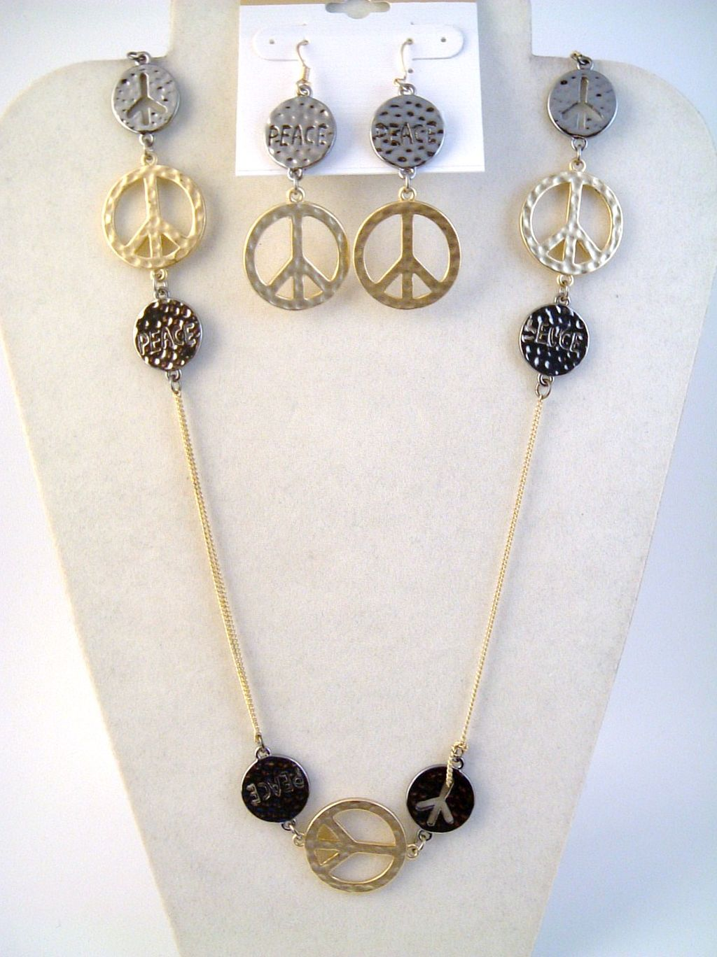 Hammered Peace Sign Two-tone 38