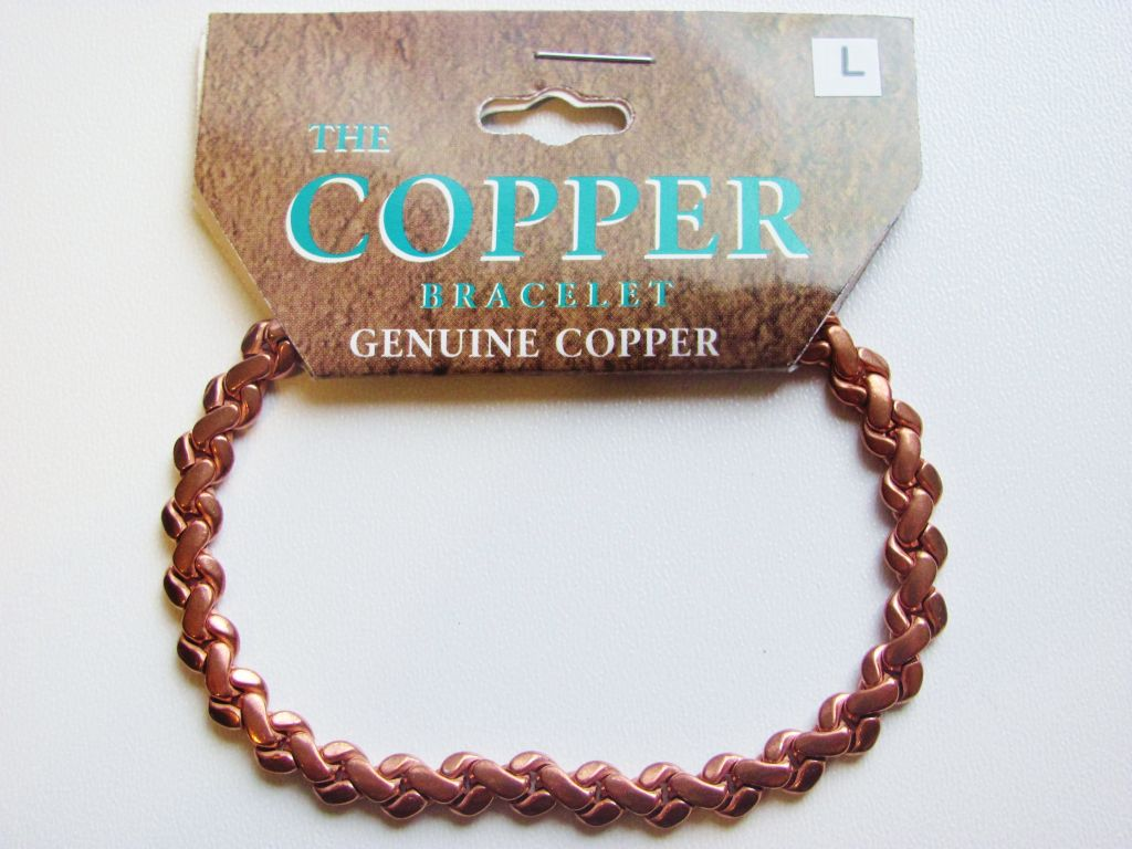 Pure Genuine Copper Link Bracelet Men's Unisex - Style 3