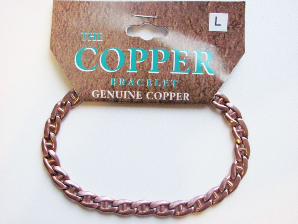Pure Genuine Copper Link Bracelet Men's Unisex - Style 4