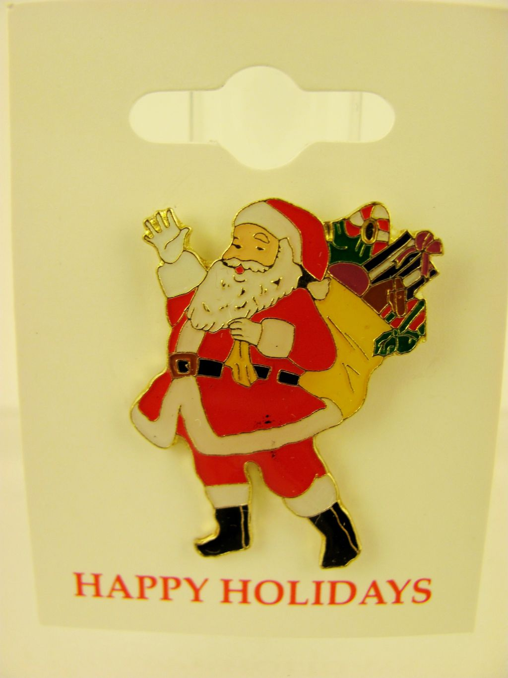 Santa Claus with Presents Xmas Christmas Pin
