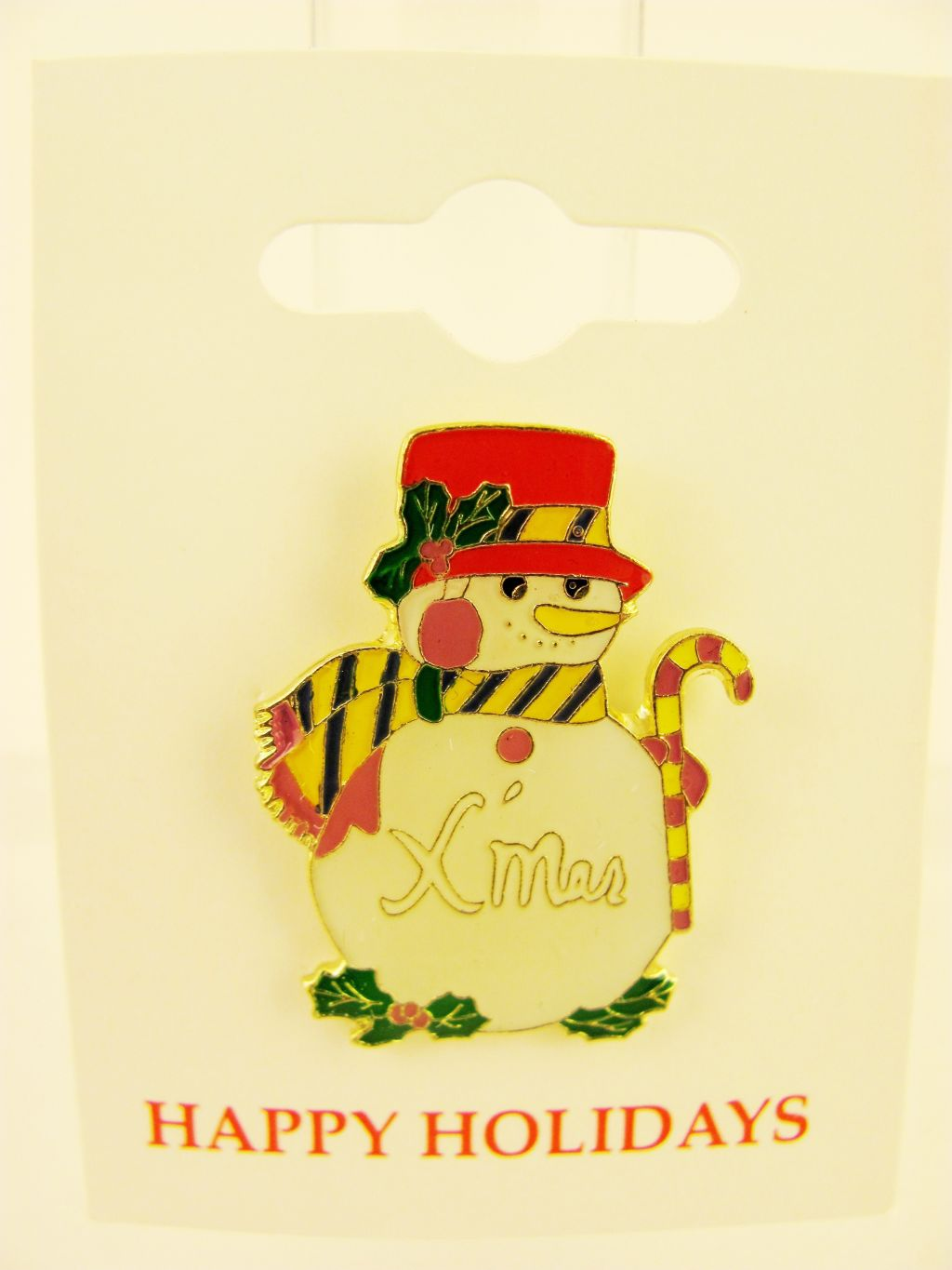 Snowman Snow Man Xmas Christmas Pin