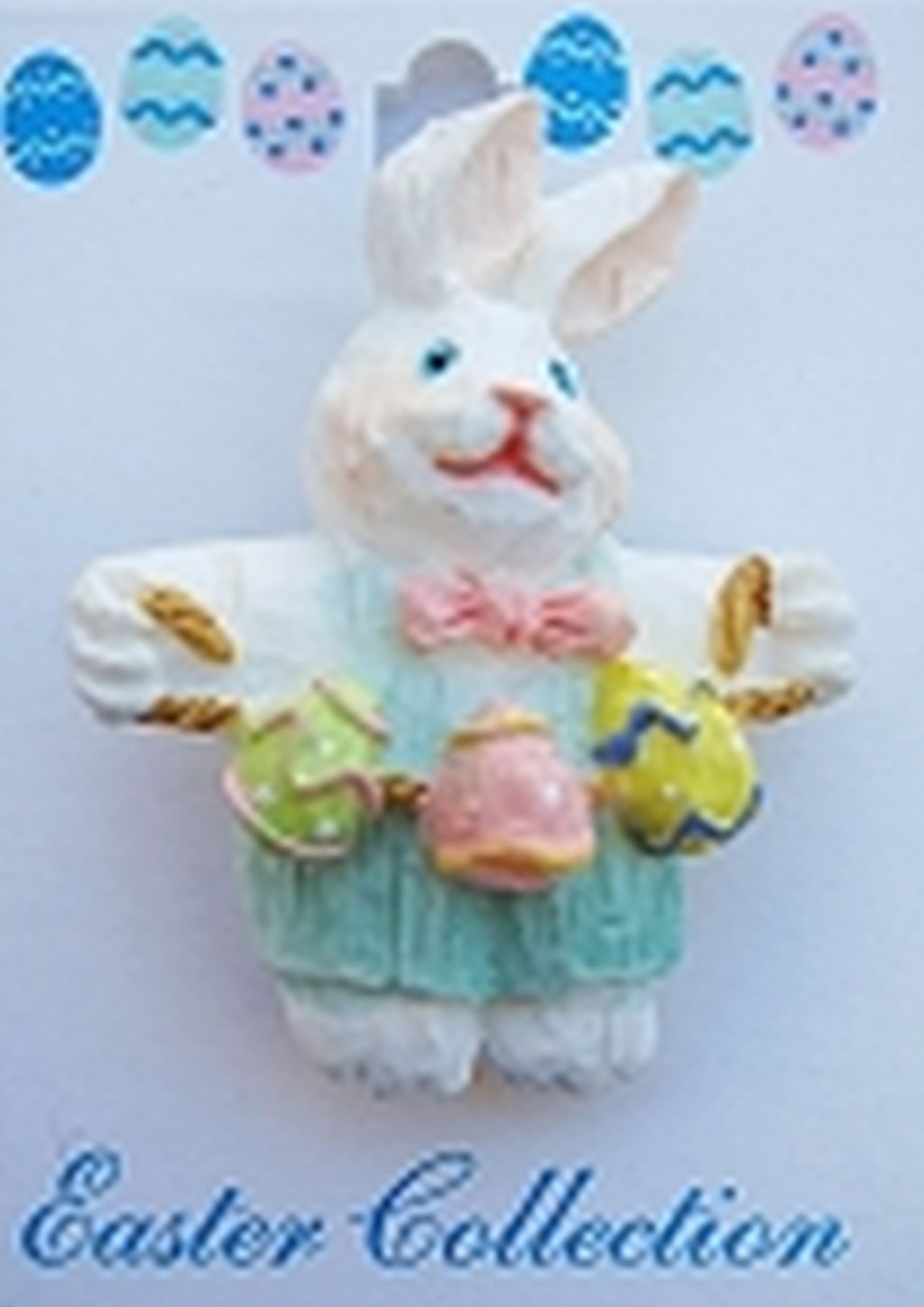 Easter Bunny & Multi-colored Eggs Brooch Pin