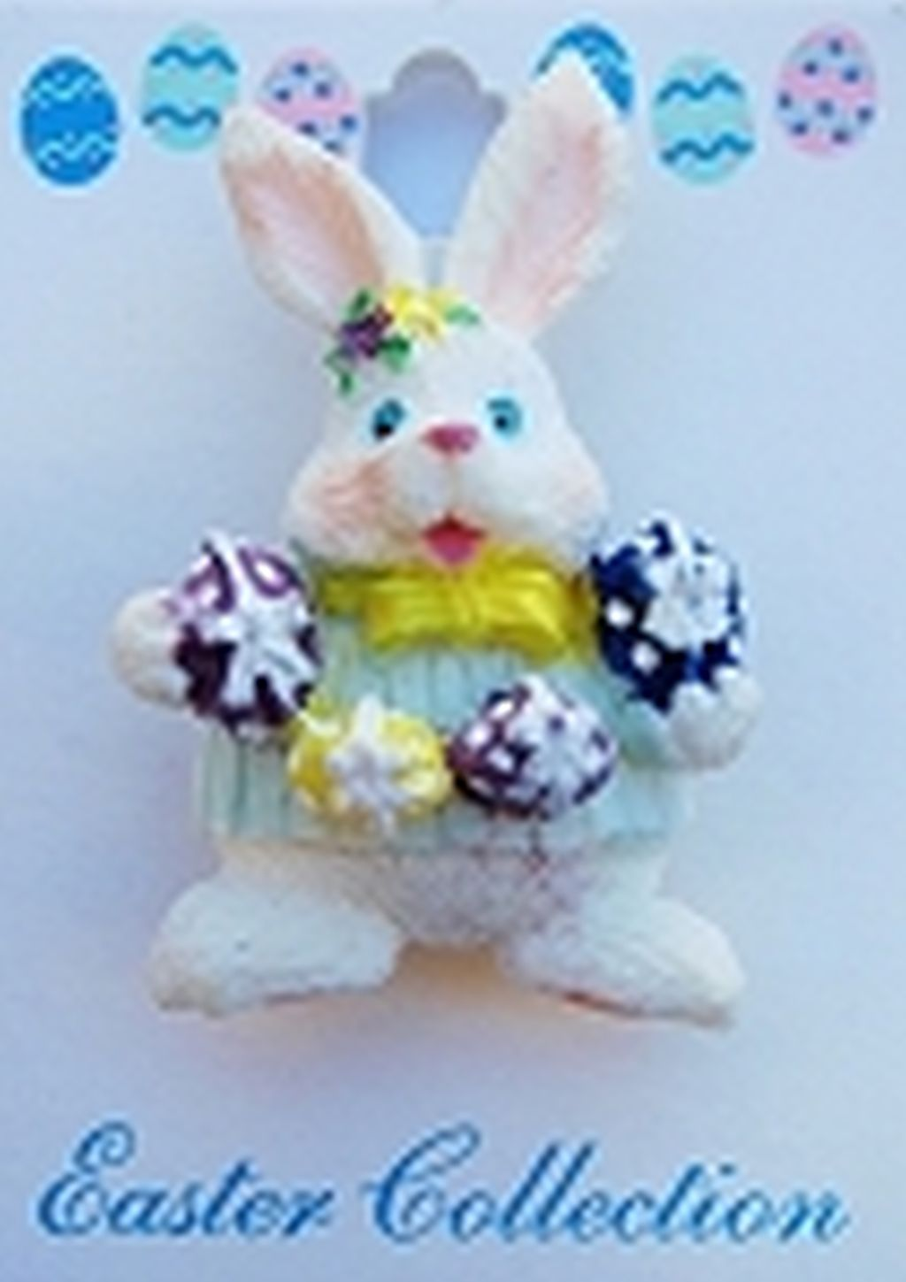 Easter Bunny & Colored Eggs Brooch Pin