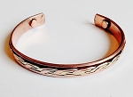 Magnetic Copper Cuff Adjustable Bracelet Rope Ornament Two-tone, Arthritis Natural Cure