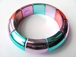 Summer Colors Fuchsia Green Stretching Bangle Bracelet