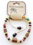 Aruba Beach Earth Elements Bracelet, Spiritual Beaded Surfer Men's Jewelry
