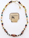 Aruba Beach Earth Elements Necklace, Spiritual Beaded Surfer Men's Jewelry