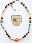 Bahamas Beach Earth Elements Necklace, Spiritual Beaded Surfer Men's Jewelry