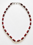 Beach Hot Fluent Brown & Chrome Men's Beaded Necklace, Surfer Style