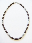 Cancun Beach Dusk Survivor Beaded Necklace, Men's Surfer Choker Brown