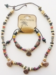 Cuba Beach Earth Elements Necklace Bracelet, Spiritual Beaded Surfer Men's Jewelry