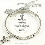 Daughter's Blessing Bracelet Inspirational Message Angel Charm Silver