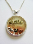 Designer's Touch Love Forever Locket Necklace Pendant Vintage Tri-tone