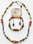 Hawaii Beach Earth Elements Necklace Bracelet, Spiritual Beaded Surfer Men's Jewelry