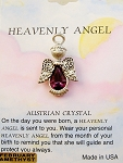Heavenly Angel Amethyst February Birthstone Pin Vintage Style, Genuine Austrian Crystal