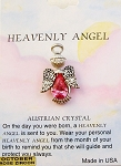 Heavenly Angel Rose Zircon October Birthstone Pin Vintage Style, Genuine Austrian Crystal