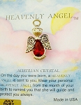 Heavenly Angel Ruby July Birthstone Pin Vintage Style, Genuine Austrian Crystal