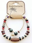 Jamaica Beach Earth Elements Bracelet, Spiritual Beaded Surfer Men's Jewelry