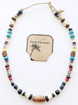 Jamaica Beach Earth Elements Necklace, Spiritual Beaded Surfer Men's Jewelry