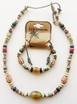 Key West Beach Earth Elements Necklace Bracelet, Spiritual Beaded Surfer Men's Jewelry