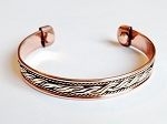 Magnetic Copper Cuff Adjustable Bracelet Three-tone Ornament, Arthritis Natural Cure