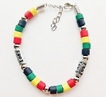 Miami Beach Multicolor Men's Bracelet Beaded, Surfer Style