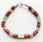 Samur Beach Beaded Bracelet, Men's Surfer Style Jewelry Brown