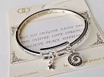 Spirit Joy Faith Dream Love Believe Happiness Inspirational Message Bracelet, Sliver Stretch