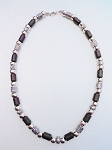 Vintage Apache Tribe Beaded Men's Beach Necklace, Chrome Brown Surfer Jewelry