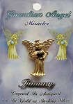 Vintage Gold Garnet-January Birthstone Guardian Angel Pin, Genuine Austrian Crystal