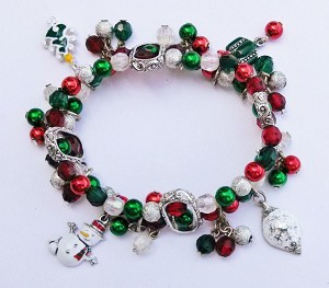 Christmas Charms & Ornaments Bead Bracelet Stretching