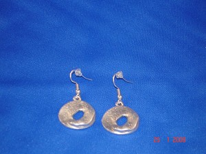 Metal Circle Contemporary Earrings, Anti-allergenic