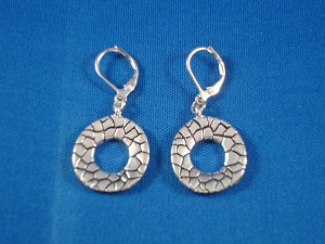 Silver Tone Leverback Earrings, Anti-allergic Metal