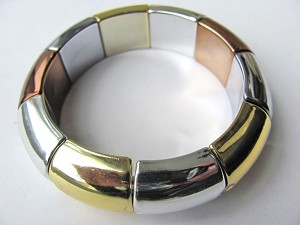Summer Colors Gold Hematite Stretching Bangle Bracelet