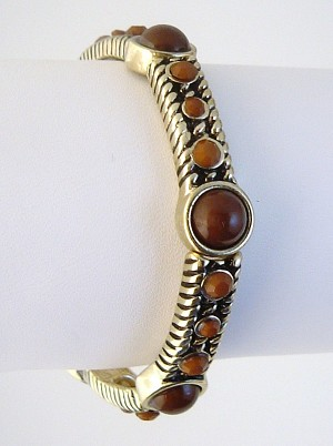 Vintage Bronze Brown Topaz Stretch Bracelet